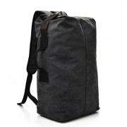 23L Large Capacity Canvas Laptop Backpack Fashionable Men Business Travel School Bag - Black / Size: S