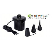 Vruta™ Electric Air Pump 110-240V AC 12V DC Inflator Deflator with 3 Nozzles for Air Bed Inflatables