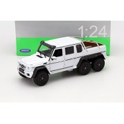 New 1:24 W/B Welly Collection White 2014 Mercedes Benz G 63 Amg 6 X6 Diecast Model Car By Welly