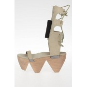 Rick Owens Sandali HIGH SANDAL W/BOW MONSTER CLOG in Pelle taglia 41