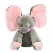 AOOPOO Musical Animated Flappy Ear Elephant Soft Plush Toy Singing Stuffed Animated Animal Kid Doll Gift