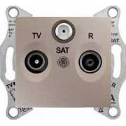 SEDNA TV-R-SAT aljzat átmenő 4 db IP20 Titán SDN3501468 - Schneider Electric