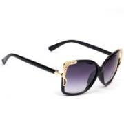 Eyeland Rectangular, Over-sized Sunglasses(Violet, Blue, Clear)