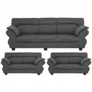 Gioteak Kingdom 7 seater sofa set in dark grey color with attractive design