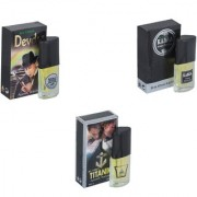Skyedventures Set of 3 Devdas-Kabra Black-Titanic Perfume