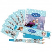 "Set papetarie ""Frozen"" (carnetel, creion, rigla, stickere), Amscan 999267, 20 piese"