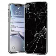 Wozinsky Marble iPhone 7/8 TPU telefontok fekete márvány