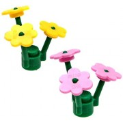 LEGO LEGO Disney Frozen Terrain Set of Pink & Yellow Flowers Accessory [Loose]