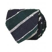 Drake's Handrolled Striped Grenadine 8 cm Tie Blue/Green