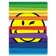 CAIET A4 MY.BOOK FLEX 40 FILE DICTANDO COPERTA SMILEY WORLD JALOUSIE CU ELASTIC NEGRU HERLITZ (HZ9478170)