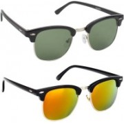 SRPM Clubmaster Sunglasses(Green, Yellow)
