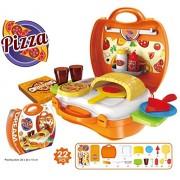 Smart Picks 22 Pieces Kids Pizza Oven Suitcase Set