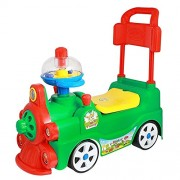 MANAN Kids Rides 4 Wheel Sunny Rider Toddler & Push Along Small Magic Car with Horn for Kids Spin Horn LOCO Train Rider