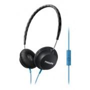 Philips CitiScape Strada SHL5105BK/00 Padiglione auricolare Stereofonico Cablato Nero, Blu cuffia