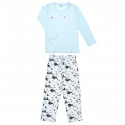 Arthur Pyjama long Lukas ciel/blanc