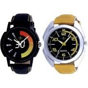 Stylish Sports Yellow With Speed 30 Lightning Class SCK Combo Gallery Wrist Watch