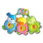 Linzy Plush Baby Soft Hanging Rattle Toy Infant Stroller Car Seat Crib Toys Take-Along 7 Animals