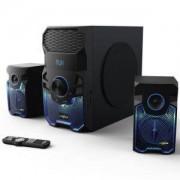 Гейминг звукова система HAMA Urage SoundZ Revolution 2.1 100W, Bluetooth, USB, SD Card, HAMA-113766