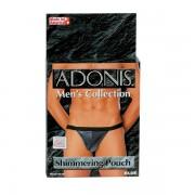Adonis See Thru Shimmer Pouch T Back G String Underwear Blue SE4533-12