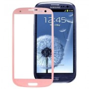 Original Front Screen Outer Glass Lens for Samsung Galaxy S3 / SIII / i9300 (Pink) - Pink