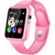 Ceas GPS Copii iUni Kid98 Telefon incorporat Touchscreen 1.54 inch Bluetooth Notificari Camera Roz