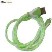 Basitronics Twisted Lightning to USB Charging and Data cable 3 feet 0.8 Meters Green