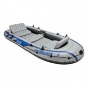 Set barca gonflabila Intex 68325NP Excursion 5, pentru 5 persoane, 366 x 168 x 43 cm