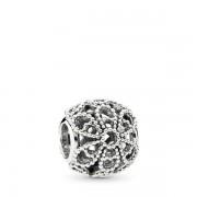 PANDORA bedel met opengewerkte rozen, Bedels uit Sterling zilver, 791282