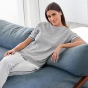 HFor Sweat-Hose, Langarm oder -Kurzarm-Sweater, Kurzarm-Sweater - 36/38 - Grau