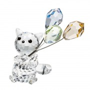 Decoratiune cristal Preciosa - Cat with balloons