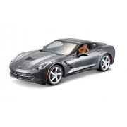 Maisto 1:24 Scale Assembly Line 2014 Corvette Stingray Coupe Diecast Model Kit (Colors May Vary)