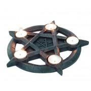gyertyatartó (dekoráció) Pentagram Tealights - NEM2273