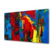 Tablou Canvas Premium Abstract Multicolor Culori Vibrante 2 Decoratiuni Moderne pentru Casa 80 x 160 cm
