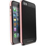 Telefoonhoesje.nl iPhone 6 Plus / 6S Plus, Gel hoesje met metalen frame, Zwart met Rose goud - Geschikt voor: Apple iPhone 6 Plus / 6S Plus