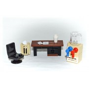 LEGO Furniture: Office Set Collection - Desk Water Cooler Trash Can Chair