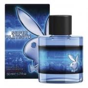 Playboy super for him 100 ml eau de toilette edt spray profumo uomo