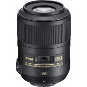 Nikon - AF-S DX Micro Nikkor 85mm f/3.5G ED VR Telephoto Lens for DX SLR Cameras - Black