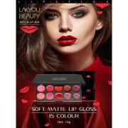 Lakyou Beauty Soft Matte Creme Lipstick 15 Multicolor Palette 15 gm