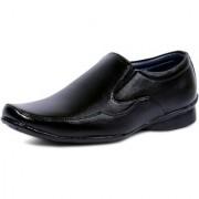 Ostr Slip on Black Fox leather Air Mix Formal Moccasin Shoes For Men