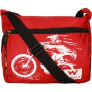 Bum Bat Collection Men Women Casual Red Black Polyester Sling Bag