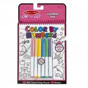 Carnet de colorat pe numere pentru fetite, Melissa and Doug, 12 pagini