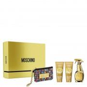 Moschino Couture Fresh Gold Confezione 100 ML Eau de Parfum + 100 ML Body Lotion + 100 ML Shower Gel + Moschino Rainbow Purse