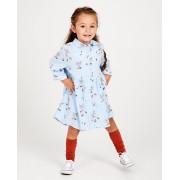 Kaatje Blauw jurk met print Kaatje van viscose