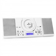 Auna MC-120 Cadena estéreo MP3 CD USB Montaje pared Blanco (MG4-MC-120 WH)