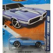 2011 HOT WHEELS STREET BEASTS 86/244 BLUE '67 PONTIAC FIREBIRD 400 06/10