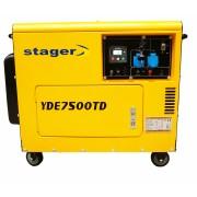 Generator insonorizat Stager YDE7500TD diesel monofazat
