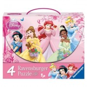 Puzzle printesele Disney, 2x64 piese/2x81 piese Ravensburger
