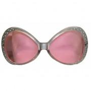 Zilveren glitter zonnebril