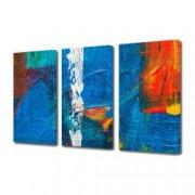 Tablou Canvas Premium Abstract Multicolor Culori Pe Panza Decoratiuni Moderne pentru Casa 3 x 70 x 100 cm