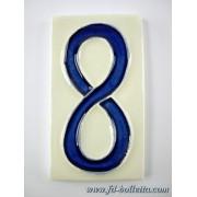 Numero civico ceramica piccolo nc308